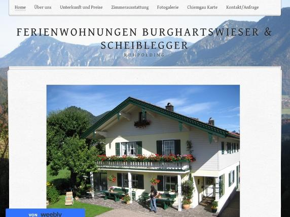 Screenshot von http://www.pension-burghartswieser.de